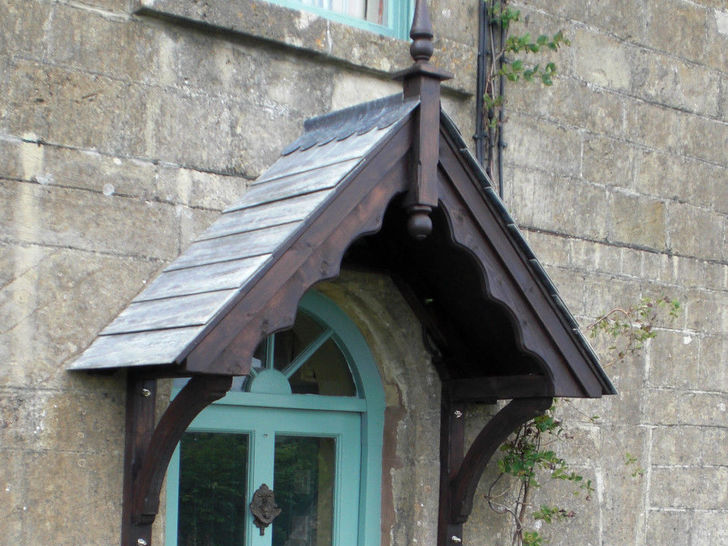 Traditional A Frame Door canopy design from the heart of Devon
